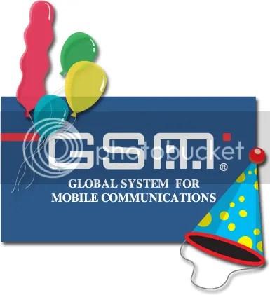 GSM Twentieth Anniversary Graphic