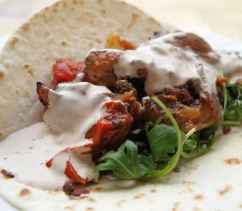 Mexican Chicken, Tomato  and Chilli Wraps