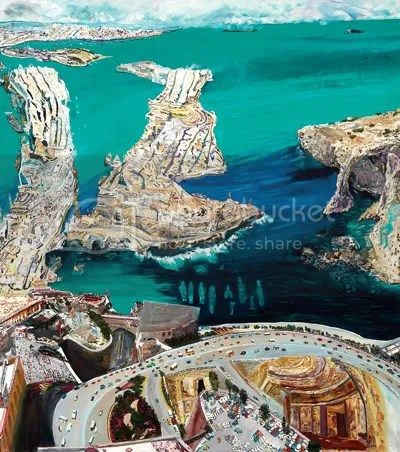 """""""Deep Time/Malta"""" by Olive Ayhens Courtesy of the artist and Frederieke Taylor Gallery, NYC"""