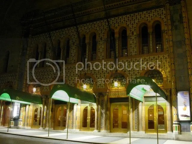 City Center Theater at night, NYC