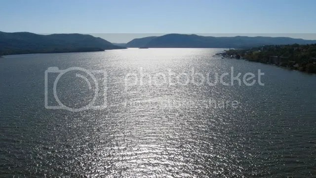 Hudson River view from Hamilton Fish bridge, Beacon - Newburgh, New York