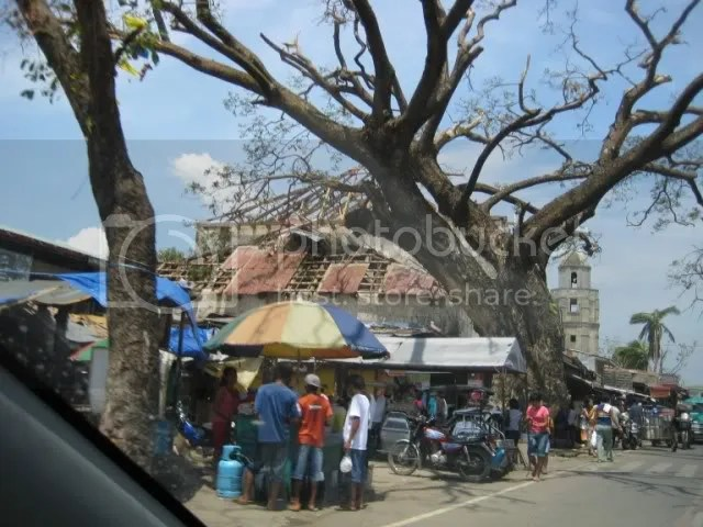 One of the affected buildings in Bolinaos town proper.