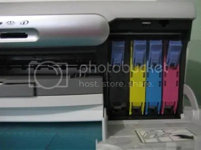 This is the printers ink cartridge compartment.