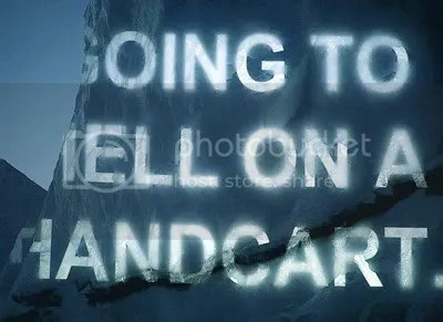 David Buckland, text Amy Balkin, 'Going to hell on a handcart.', Ice Art.