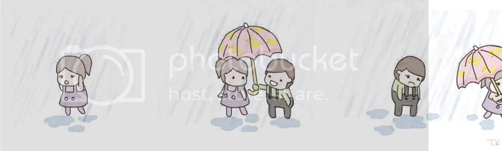 She is beyond messed up.  Dont ask me why he has a pink umbrella
