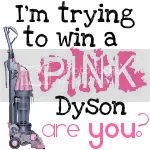 Pink Dyson Vaccuum Giveaway by the Domestic Diva