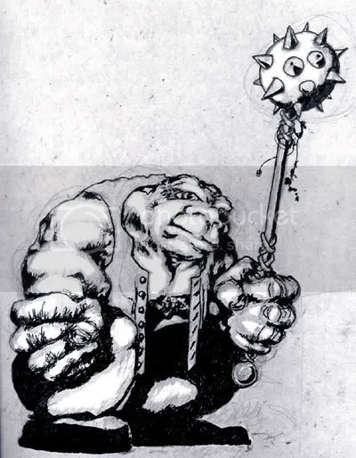 ogre with a mace sketch