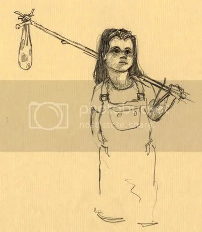 original little hobo sketch