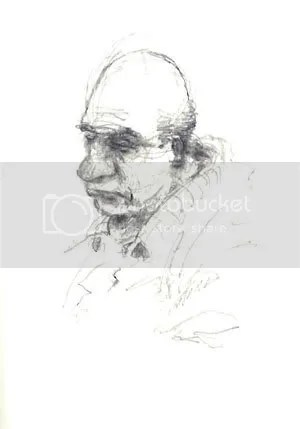 old man head sketch