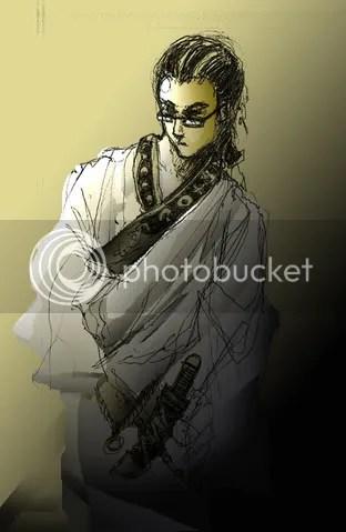 second samurai, ink, photoshop