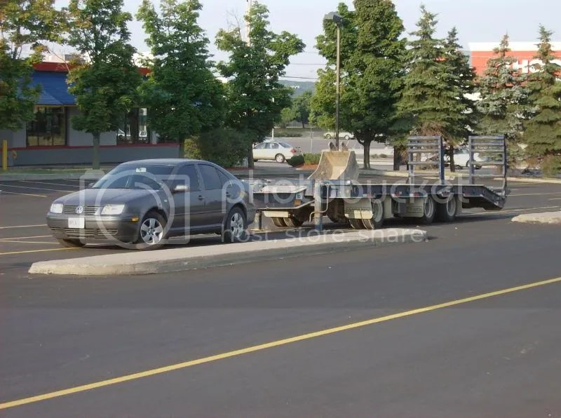 That trailer is way to big for you, seriously, your a Jetta, you cant tow that, stop being silly.