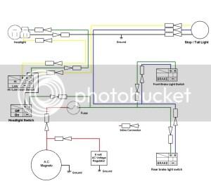 TT500 wiring for the street | Yamaha XT500 Forum