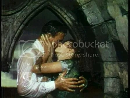 "Kissing in the rain...John Wayne/Maureen O'Hara in ""The Quiet Man"""