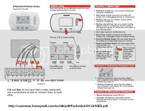 Replace Honeywell 8411 heat pump thermostat  DoItYourself