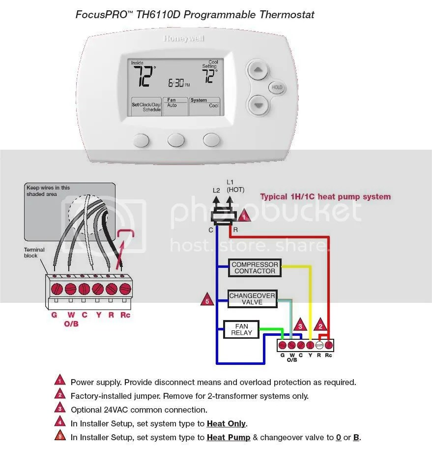 Honeywell Pro 5000 Heat Pump Thermostat Wiring Diagrams