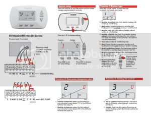 Honeywell RTH6350 Wiring question  DoItYourself