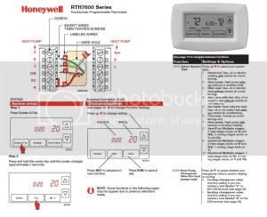 Help Wiring Honeywell RTH7600D with Heat Pump (with Em