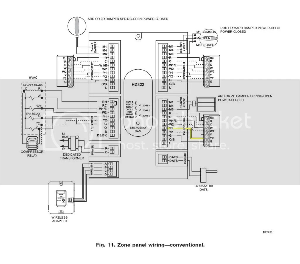 Honeywell Zone Damper Wiring Diagram Wiring Diagram