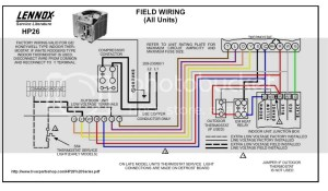 Lennox HP insideoutside Wiring  DoItYourself