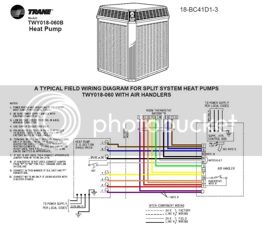Trane Xe1000 Heat Pump Contactor Wiring Diagram