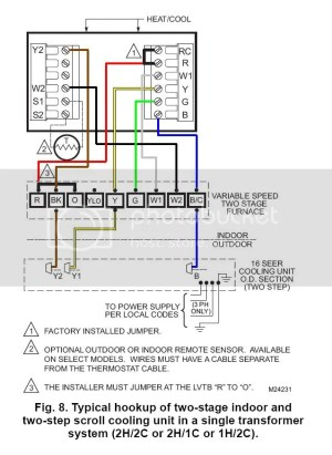 American Standard (Trane) Heat Pump  Air Handler  Thermostat not wired correct  DoItYourself
