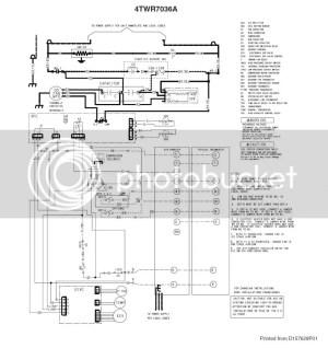 Trane XR17 Heat Pump  TAM7 Air Handler  TCONT803 Tstat
