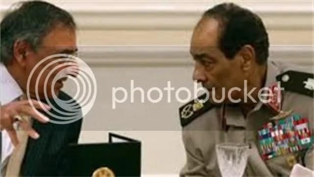 Hussein Tantawi with Defense Secretary Leon E. Panetta
