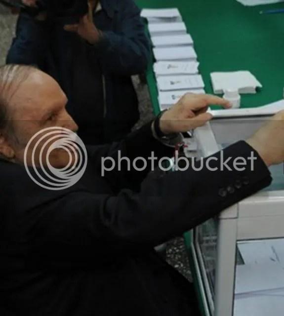 Algeria's ailing president Abdelaziz Bouteflika voted on April 17 in the presidential election.