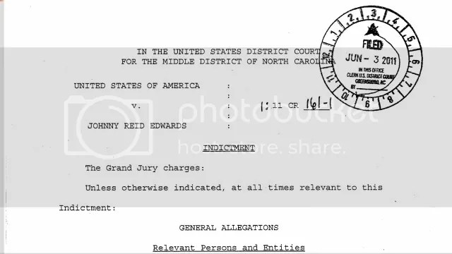 John Edwards Indictment