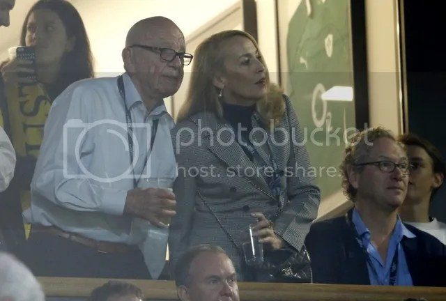 Jerry Hall Jagger and fiancé