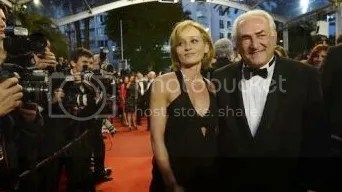 Myriam L'Aouffir and Dominique Strauss-appeared on the red carpet at the Cannes Film Festival