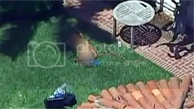 Rebecca Zahau's body seen from a news helicopter