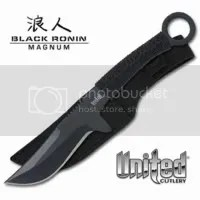 Black Ronin Kunai Style fighting knife