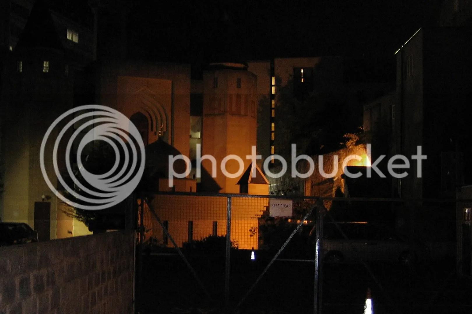 Edinburgh mosque at night