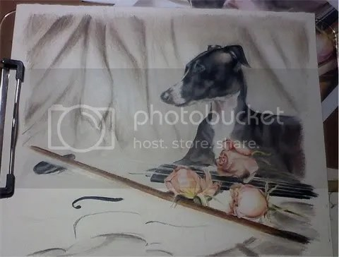Italian Greyhound Art in progress