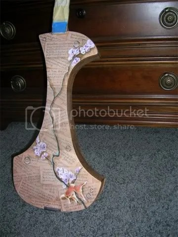 front of electric violin