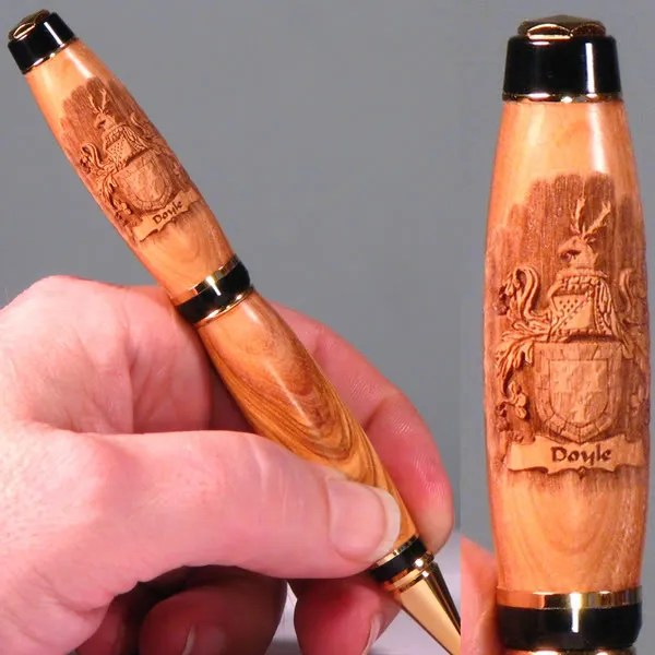 Coat of Arms laser engraved pen