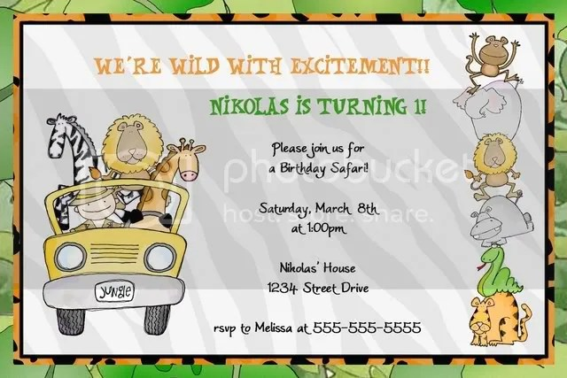 jungle safari invite