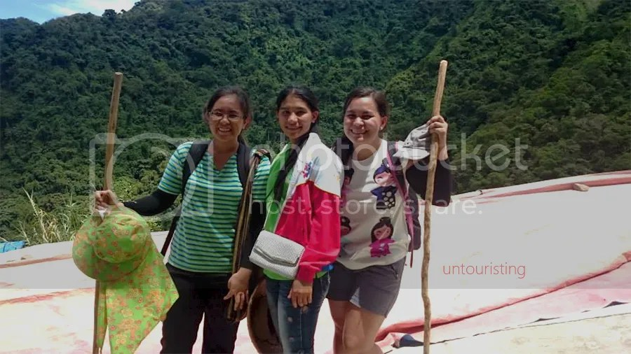 Igorot woman with hikers