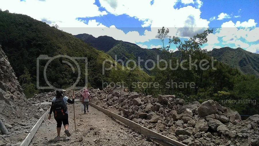 Trekking to Batad