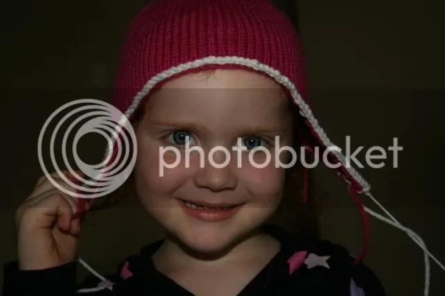 gabes' earflap hat pattern fuschia