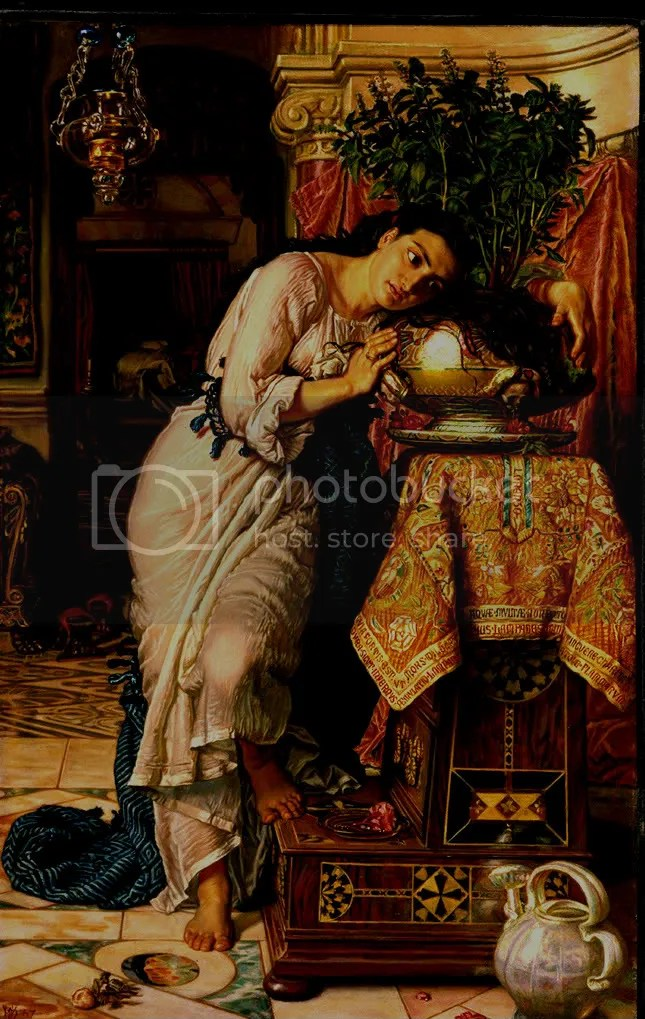 William Holman Hunt, Isabella and the Pot of Basil, 1866-1868 [http://i157.photobucket.com]