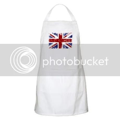 British Flag Punk Grunge Apron on CafePress