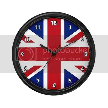 Union jack British Flag Wall Clock on CafePress