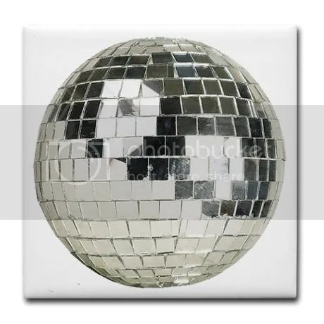 DISCO BALL Silver Tile Coaster on CafePress