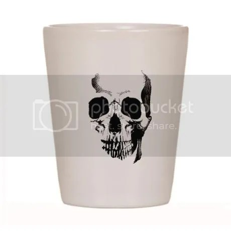 Skull Face Shot Glass on CafePress