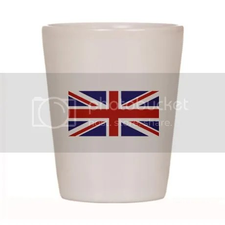 UNION JACK UK BRITISH FLAG Shot Glass on CafePress