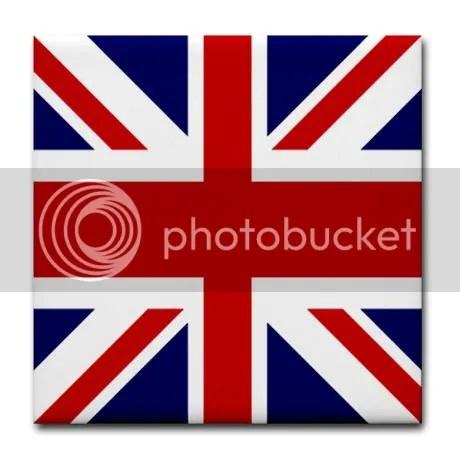 British flag Union Jack Tile Coaster on CafePress