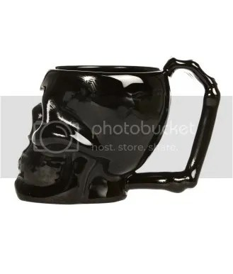 Black Death Skull Coffee mug cup