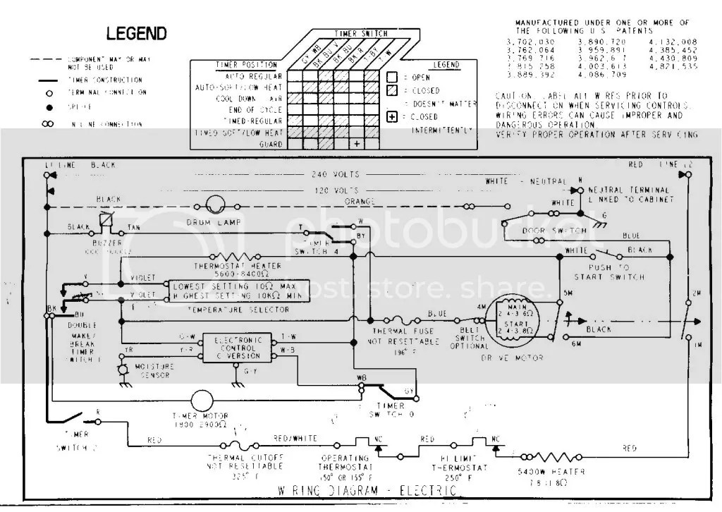 dryer whirlpool defrost timer wiring diagram dolgular com Basic Electrical Wiring Diagrams at edmiracle.co